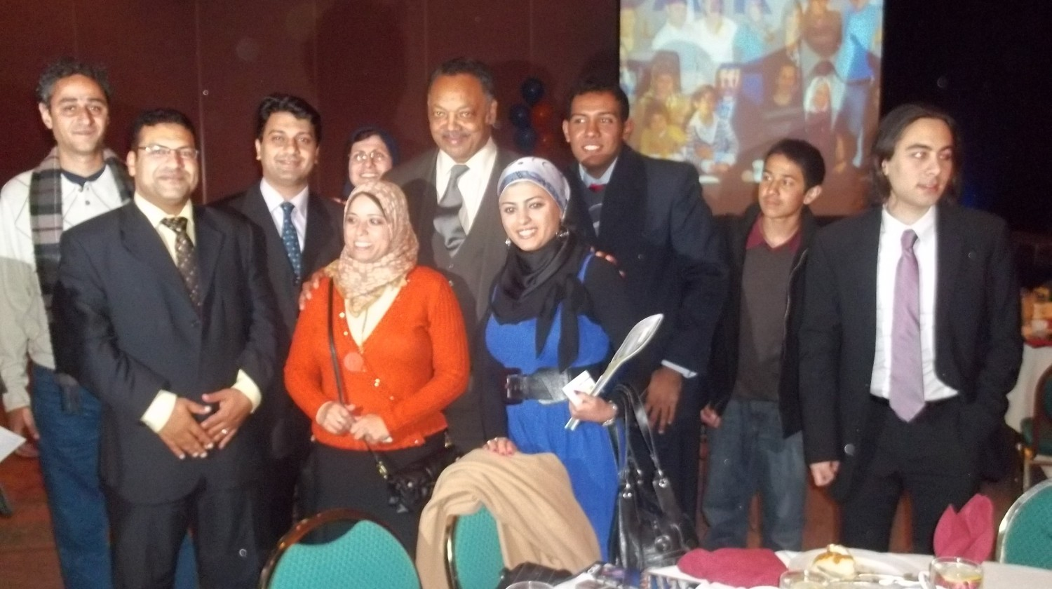 Delegates from Egypt at a CAIR dinner