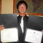 CIP trainee from Korea with all smile after completing his year-long work-based training at PACE, National Louis University