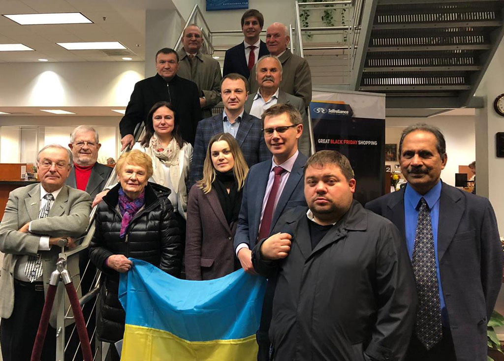 Group at Ukrainian Cr Union Office